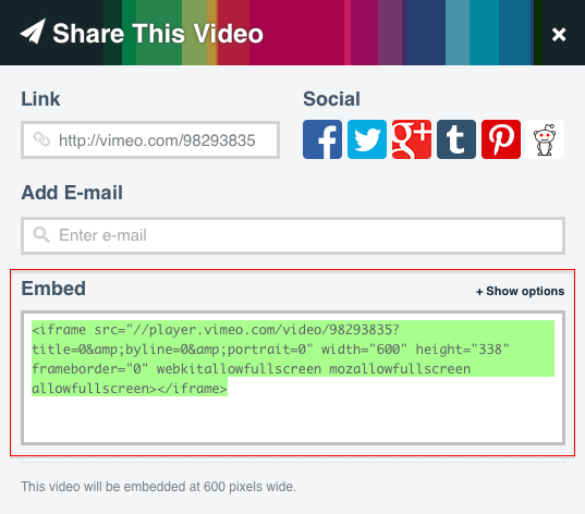 How to add a video from Vimeo on your website? – anaZana